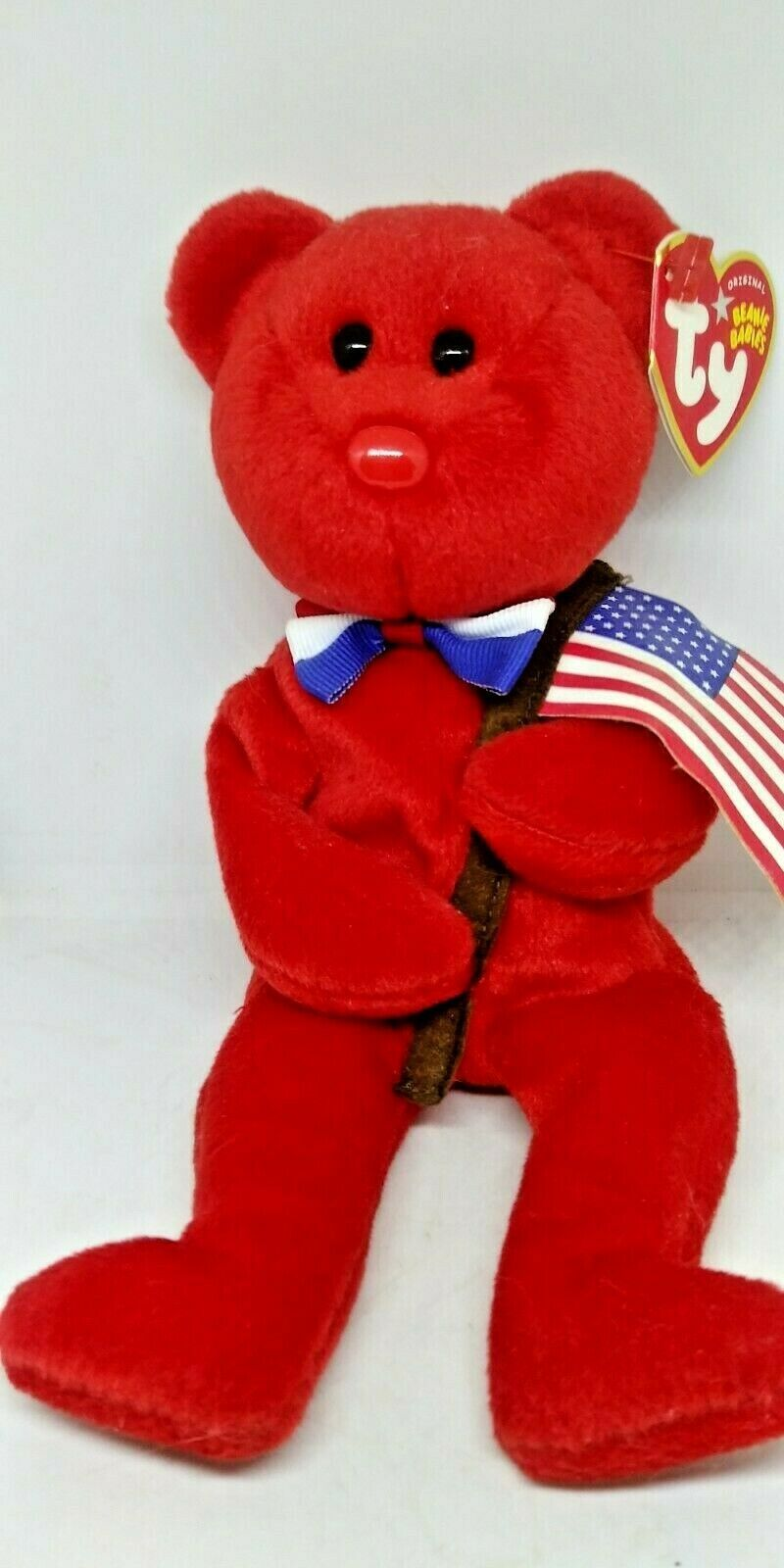 Primary image for Ty Beanie Baby Thomas - MWMT (Bear Red 2004) Patriotic