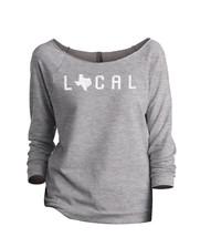 Thread Tank Local Texas State Women's Slouchy 3/4 Sleeves Raglan Sweatshirt Spor - $24.99+