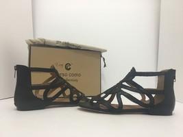 Corso Como Surrey Black Leather Women's Flats Sandals Size 6.5 M - $65.93