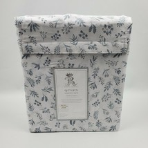 Rachel Ashwell White Blue Gray Pretty Floral Queen Sheet Set - $79.95