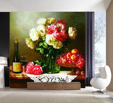 3D Vase  blumen 78221 Fototapeten Wandbild Fototapete BildTapete Familie DE - $52.21+