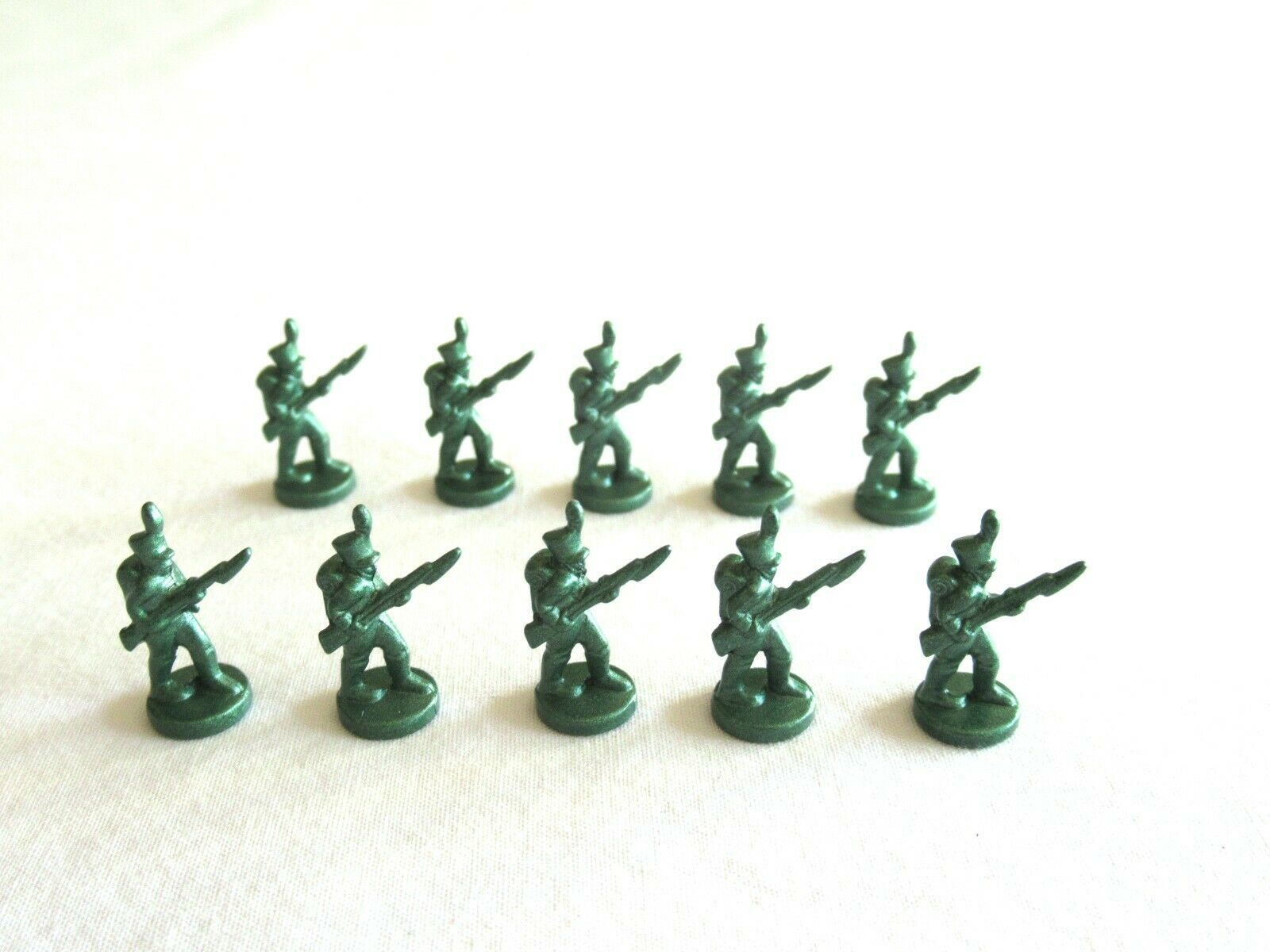 Primary image for 10x Risk 40th Anniversary Edition Board Game Metal Soldier Infantry Green Army