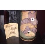 Smoking Cowboy Vintage 1980  Mahon Made Stoneware Ugly FACE Rare Drink c... - $56.09