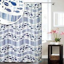 Blue Canyon Acqua Nautical Fish Shower Curtain 180cm x 180cm - $33.38