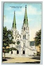 Vintage 1930's Postcard Building Cathedral of St. John Savannah Georgia - $15.02