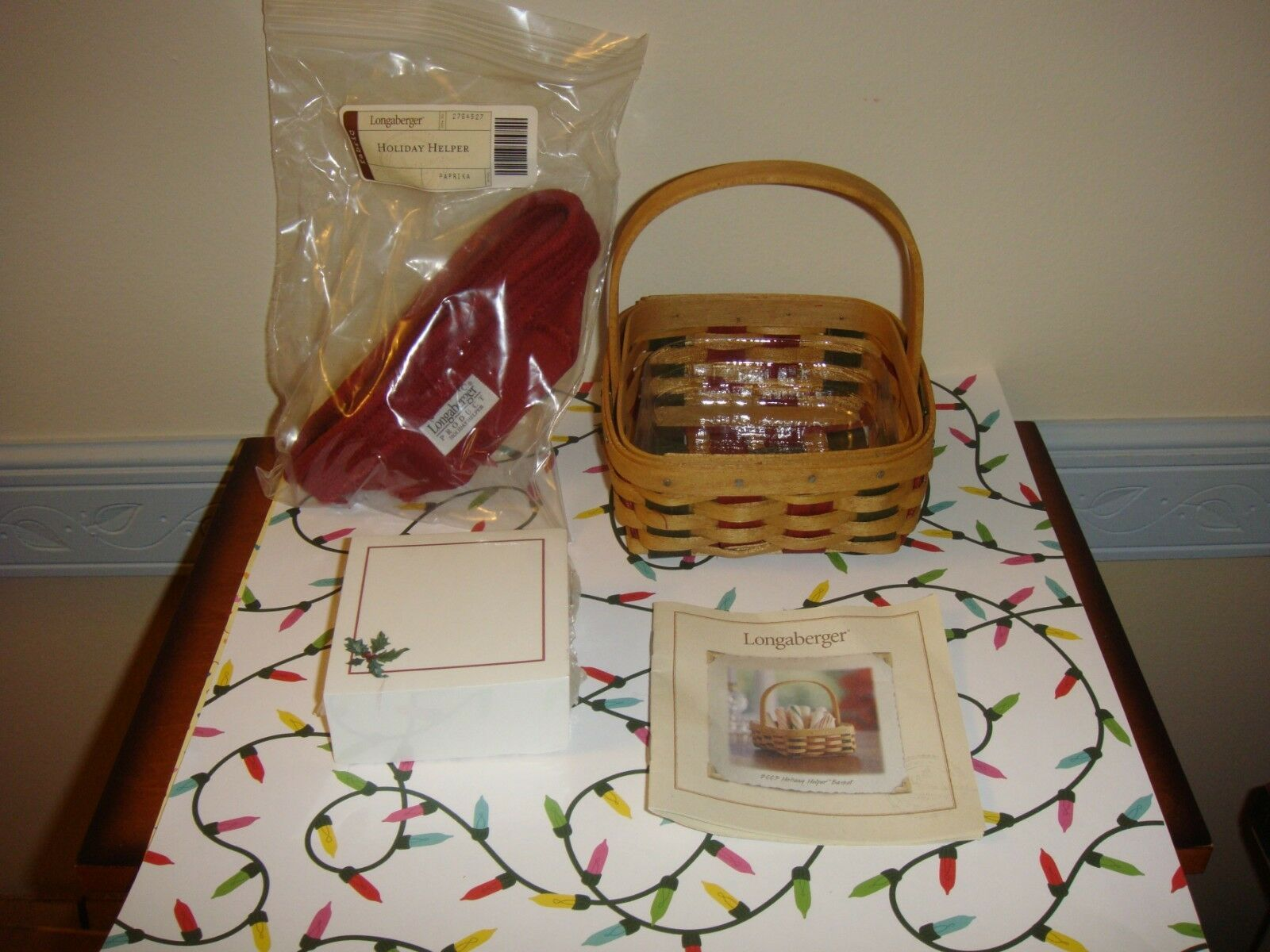 Primary image for Longaberger 2003 Holiday Helper Basket Combo Plus Holiday Note Cube