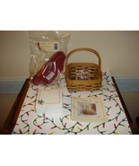 Longaberger 2003 Holiday Helper Basket Combo Plus Holiday Note Cube - $23.99