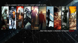 The Gamer's Poster Battlefield Hitman Borderlands on Huge Silk Fabric 43... - $15.99