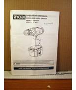 Operator's Manual Cordless Drill-Driver HP496 / HP412 983000-501 9-04 - $8.99