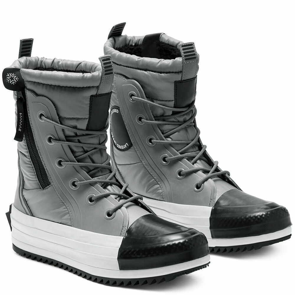 Primary image for Converse Women CTAS MC Winter Boots Water Repellent 569381C Grey/Black/White NWB