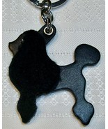 Coach Shearling & Leather Poodle Dog Keychain Key Fob 1693 Black Italy Rare - $74.00