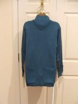 new/pkg NEWPORT NEWS  blue funnel necklong leggings sweater   medium - $21.77