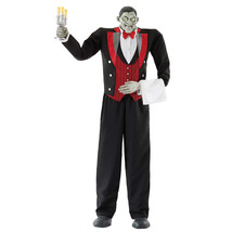 Lifesize 7ft Animated Butler Halloween Prop New See VIDEO - €173,41 EUR