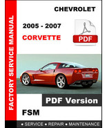 2005 2006 2007 CHEVROLET CORVETTE C6 LS2 V8 SERVICE REPAIR OEM WORKSHOP ... - $14.95