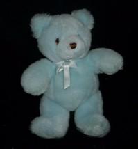 "11"" Vintage 1986 Gund Baby Time Azul Oso de Peluche Peluche Peluche Sonajero - $39.63"