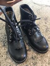 Old West A.Jama Black Toddler Kiltie Leather Cowboy Boots 6.5 bx22 - £9.52 GBP