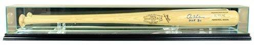 Baseball Bat Display Case with Glass Top and Black Base