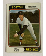 Topps 1974 Boston Red Sox Bill Lee Pitcher #118 Baseball Card Very Good - $4.99