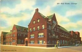 Hull House Chicago Street View Curt Teich Jane Adams Linen Postcard IL P940 - $7.00