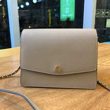 Tory Burch ROBINSON CONVERTIBLE SHOULDER BAG GREY Authentic - $275.00