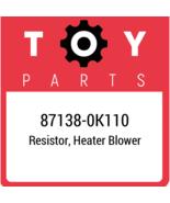 87138-0K110 Toyota Resistor Blower, New Genuine OEM Part - $17.78