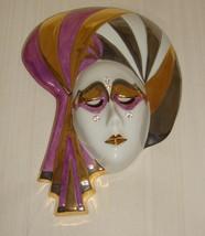 "GALOS Porcelain From Portugal Decorative art Porcelain Mask 8"" x 5"" - $49.49"
