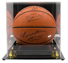 An item in the Sports Mem, Cards & Fan Shop category: Kobe Bryant Shaquille O'Neal Dual Signed Spalding Basketball w/ Case JSA Panini