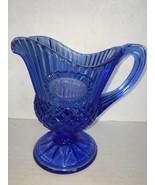 Vintage AVON Cobalt Blue Fostoria Creamer George Washington's Mount Vern... - $5.00