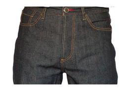 Dissizit! Gefahr 5-pocket Klassische Passform Raw Schwarz / Indigo Jeans Nwt image 4