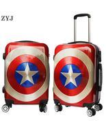 ZYJ Kids Cartoon Captain America Travel Rolling Luggage Girls Men Women ... - $169.99+