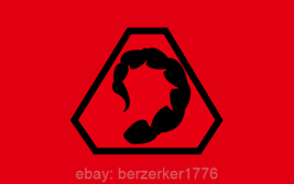 Command & Conquer Brotherhood of Nod Renegade 3' x 5' red Flag USA seller Shippe - $25.00