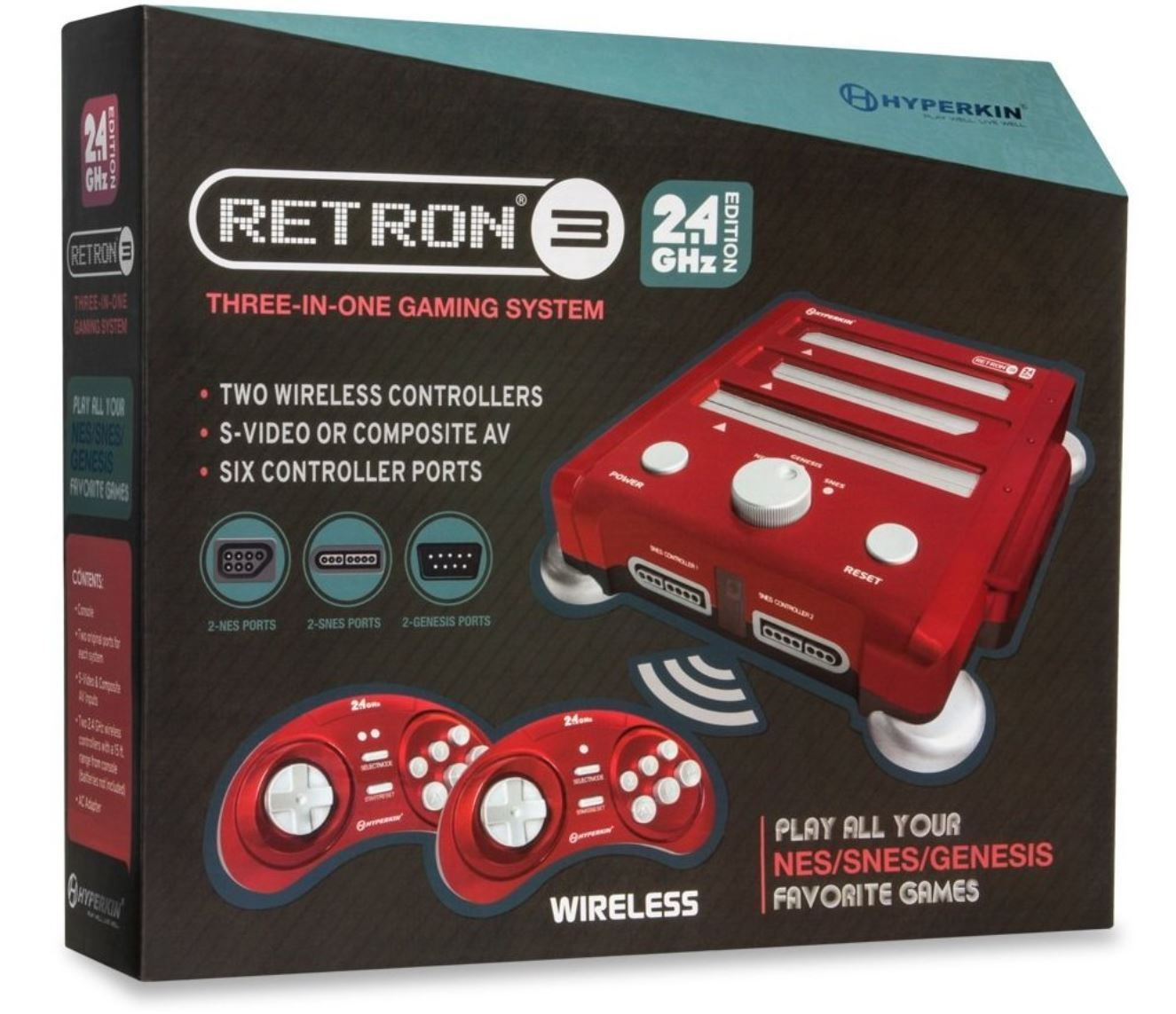 RetroN 3 Gaming Console 2.4 GHz Edition for NES SNES Sega Genesis Choose Color