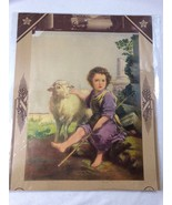 ANTIQUE PRINT EMBOSSED CHRIST CHILD 4603 CALENDAR - $35.64
