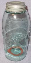 Antique Ball Mason Two Quart Fruit Canning Jar Zink Lid Rubber Seal ca 1895 - $24.95