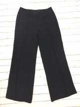 EXPRESS Women's Black dress pant trouser career 3/4 short petite - $182,56 MXN