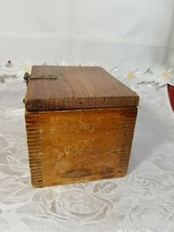VINTAGE CLARITE HIGH SPEED COLUMBIA TOOL STEEL CO. WOODEN BOX image 2