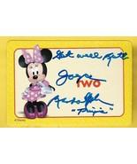 JOYCE RANDOLPH THE HONEYMOONERS AUTOGRAPHED DISNEY MINNIE MOUSE CARD INS... - $7.68