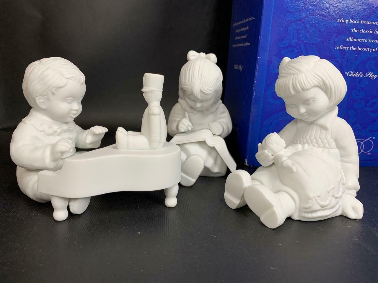 "Primary image for DEPT. 56 Silhouette Treasures 4 pc ""Child's Play"" Porcelain Figurines (56.78610)"
