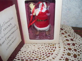 HALLMARK ORNAMENT SANTA CLAUS TWAS THE NIGHT BEFORE .. - $15.98