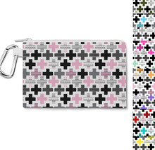 Geometric Cross Canvas Zip Pouch - $15.99+