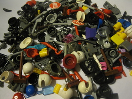 lot of 25 random picked Lego Mini-Figure Weapons & Accessories - see pic  - $7.50