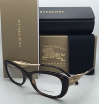 New BURBERRY Eyeglasses B 2203 3002 54-17 Tortoise & Gold Frame with Demo Lenses