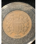 1865 Two Cent Coin - $45.00