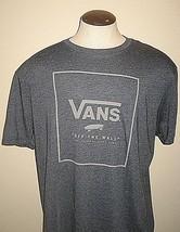 Vans Shoes Mens SS Print Box OTW Logo Tee Shirt Blue Grey size XXL Free ... - $24.74