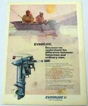 1974 Print Ad Evinrude 9.9 HP Outboard Motors 2 Men Fishing in Boat - $13.49