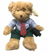 Winston Plush 9-in Bear Russ Berrie 'Bears from the Past' Tie Briefcase ... - $18.80