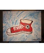 ICONIC CONVERSE ALL STAR CHUCK TAYLOR ACRYLIC PAINTING. ARTIST DIRECT!! ... - $94.95