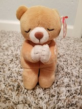 Used TY Rare Beanie Baby Hope The Praying Bear With Errors on Tags Limited - $250.00
