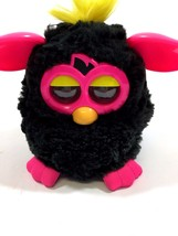 Furby 2012 Tiger Electronics Black Fur Pink Ears Great Working Condition - $23.12