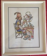 OBICAN SIGNED ARTIST'S PROOF LIMITED EDITION #275 double matted and framed. - $139.90